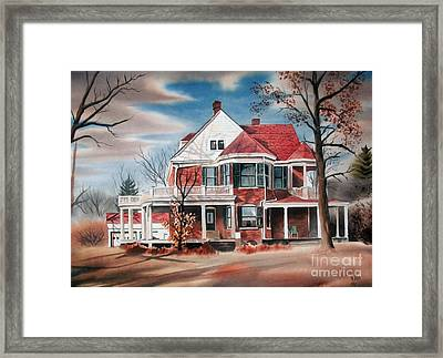 Edgar Home Framed Print