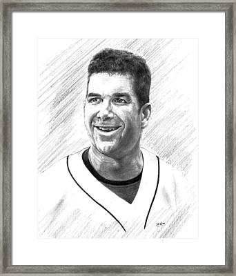 Edgar Martinez - Seattle Mariners Framed Print by Lou Ortiz