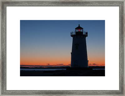 Edgartown Light At Sunrise Framed Print