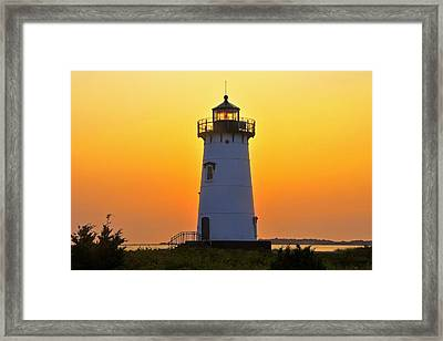 Framed Print featuring the photograph Edgartown Light by Dan Myers