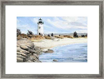 Edgartown Light - Marthas Vineyard Framed Print