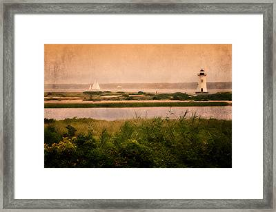 Edgartown Lighthouse Framed Print by Bill Wakeley