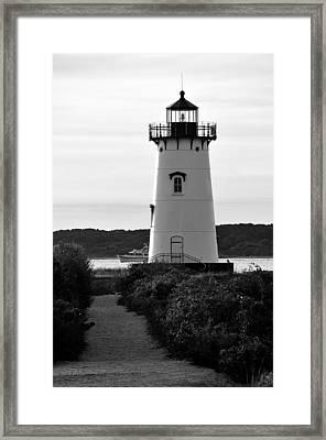 Edgartown Lighthouse Framed Print by David Champigny