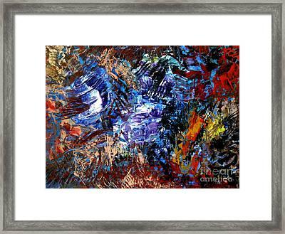 Edge Framed Print by Danya Hammoudi