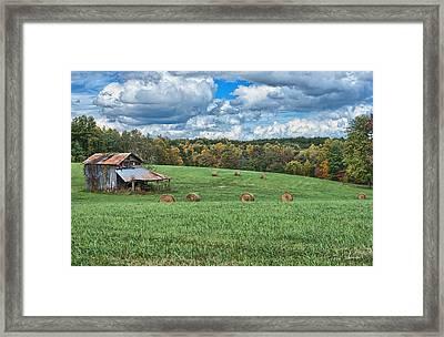 Edge Of Autumn Framed Print by Tom Lassiter