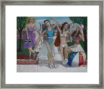 Edge Of Insanity Framed Print by Larry Lamb