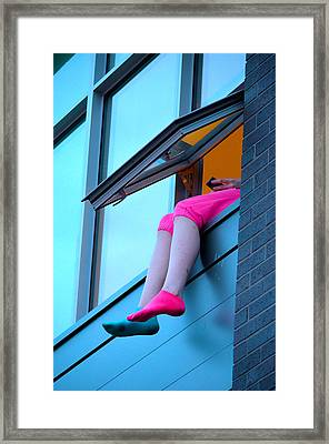Edge Of Reception Framed Print by Empty Wall