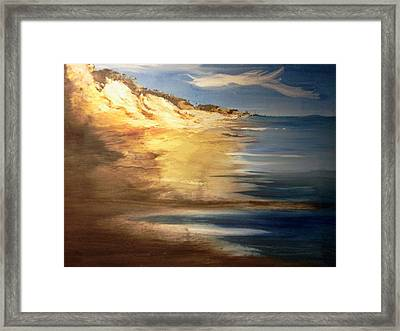 Edge Of The Country Framed Print by Joseph Gallant