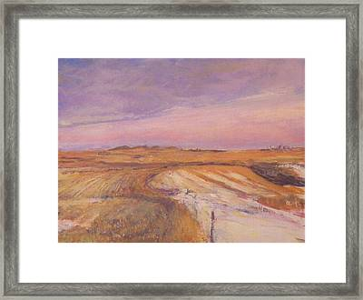 Edge Of The Field Framed Print by Helen Campbell