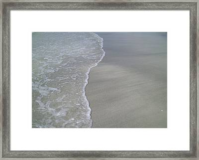 Framed Print featuring the photograph Edge Of The Ocean by Ginny Schmidt