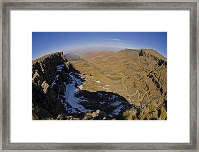 Edge Of The World Framed Print by Aaron Bedell