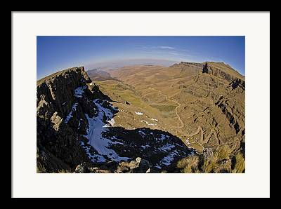 African Mountain Framed Prints