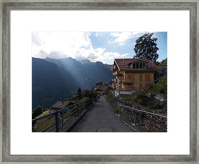 Edge Of Wengen Framed Print
