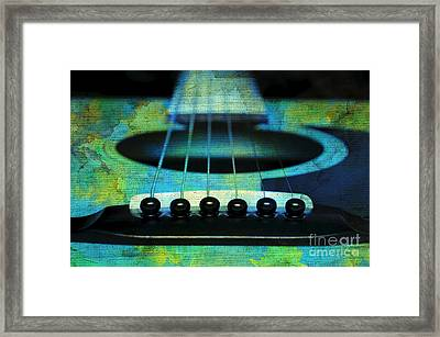 Edgy Abstract Eclectic Guitar 29 Framed Print by Andee Design