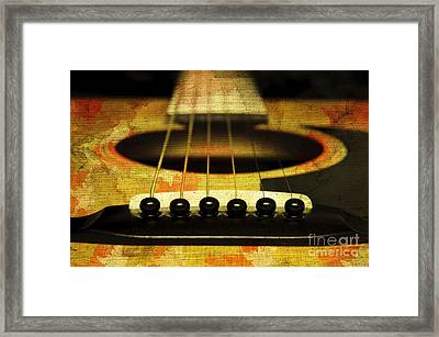 Edgy Abstract Eclectic Guitar 30 Framed Print