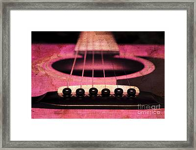 Edgy Abstract Eclectic Guitar 6 Framed Print