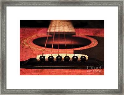 Edgy Abstract Eclectic Guitar 7 Framed Print
