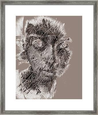 Edgy Framed Print