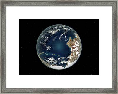 Ediacaran Earth Framed Print by Walter Myers