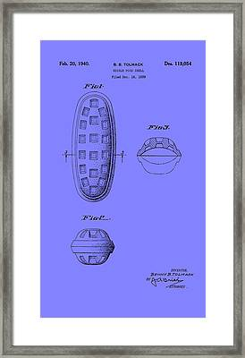 Edible Food Shell Patent 1940 Framed Print