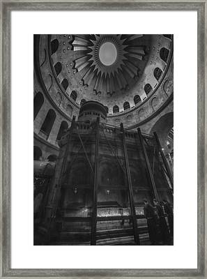 Edicule - Church Of The Holy Sepulchre Framed Print by Stephen Stookey