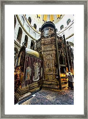 Edicule Of The Tomb Framed Print