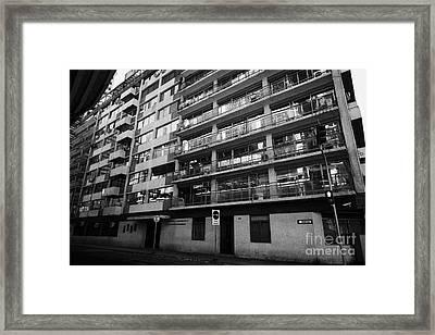 edificio general norambuena mutualidad de carabineros Santiago Chile Framed Print by Joe Fox