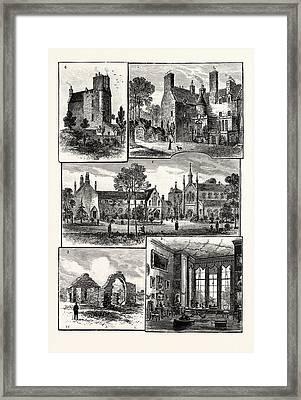 Edinburgh 1. Warrender House 2. St. Margarets Convent 3 Framed Print by English School