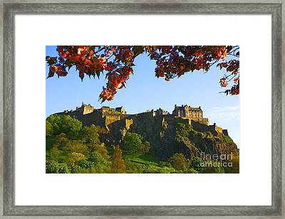 Edinburgh Castle  Framed Print by Craig B