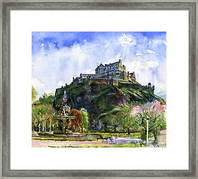 Edinburgh Castle Scotland Framed Print