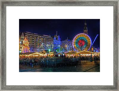 Edinburgh Christmas Market Framed Print