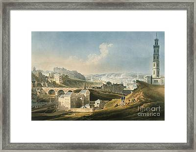 Edinburgh Cityscape, 1810 Framed Print by British Library