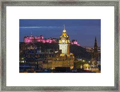 Edinburgh Night Framed Print by Brian Jannsen