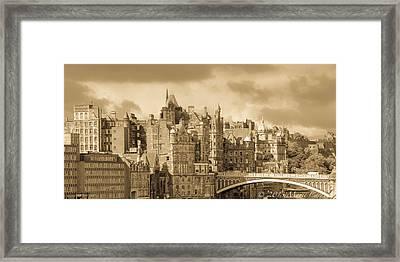 Edinburgh Nostalgia Framed Print by Marie  Cardona