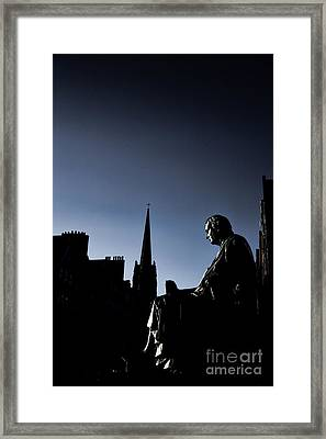 Framed Print featuring the photograph Edinburgh Royal Mile by Craig B