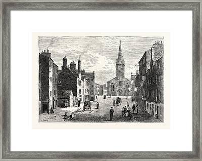 Edinburgh Sheriff Brae Looking Towards St Framed Print