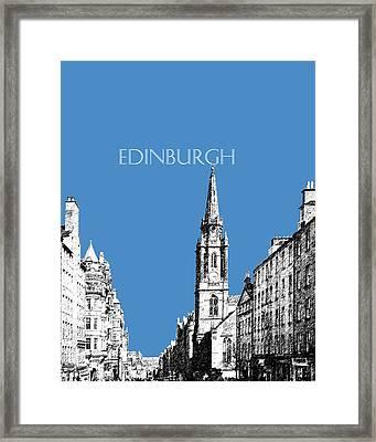 Edinburgh Skyline The Royal Mile - Slate Framed Print by DB Artist