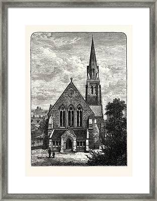 Edinburgh St. Jamess Episcopalian Church 1882 Leith Framed Print
