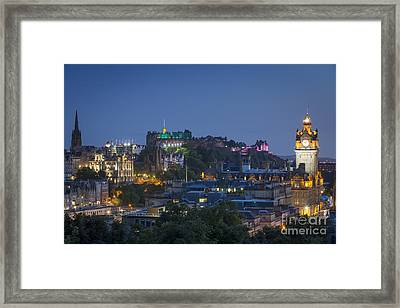 Edinburgh Twilight Framed Print by Brian Jannsen