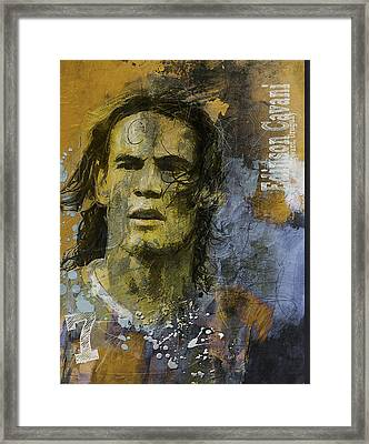 Edinson Cavani - B Framed Print by Corporate Art Task Force