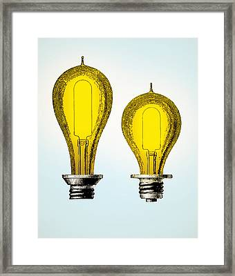 Edison Carbon Filament, Incandescent Framed Print by Wellcome Images