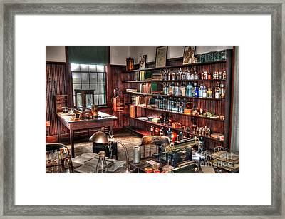 Edison's Lab Framed Print