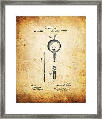 Edison's Patent Framed Print by Ricky Barnard