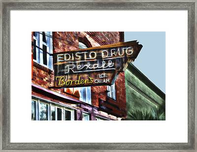 Edisto Drug Framed Print