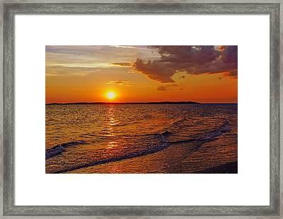 Edisto Island Sc Sunset Framed Print