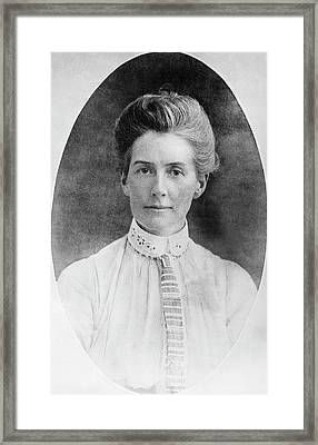 Edith Cavell Framed Print by Library Of Congress