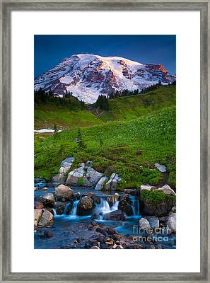Edith Creek Framed Print by Inge Johnsson