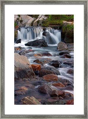 Framed Print featuring the photograph Edith Creek Mt Rainier National Park by Bob Noble Photography