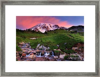 Edith Creek Sunrise Framed Print