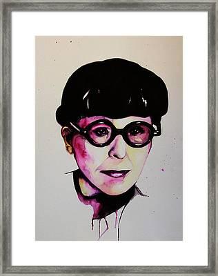 Edith Head Framed Print by Talula Christian